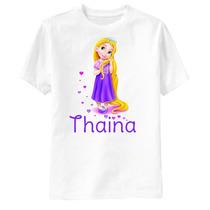 Camiseta Enrolados Disney - Rapunzel Corações