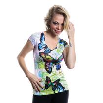 Roupas Femininas Camiseta Estampada Importada Rf1506
