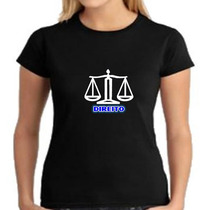 Camiseta Baby Look Curso De Direito - Feminino