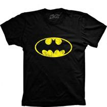 Camiseta Camisa Super Heróis Super Man Capitão America Flash