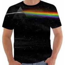 Camisa Camiseta Pink Floyd Dark Side Gilmour Waters Color