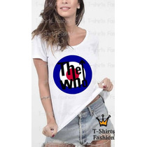 Camiseta Feminina The Who Banda Rock Personalizada