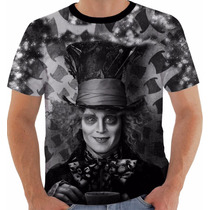 Camiseta Chapeleiro Maluco Alice No País Das Ma Johnny Deep