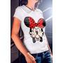 Camiseta Feminina Minnie Mostrando Os Dedos Do Meio