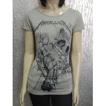 Camiseta Feminina De Banda Metallica - Longuete Viscolycra