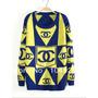 Blusa Malha De Lã Tricot Chanel Trico Inverno