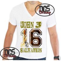 4 Camisetas Masculinas Gospel Evangelicas Por 100,00
