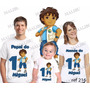 Camiseta Go Diego Go Personalizada Kit Aniversario C/ 3