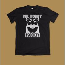 Camiseta Mr. Robot Fsociety 100% Algodão Fio 30.1 Penteado