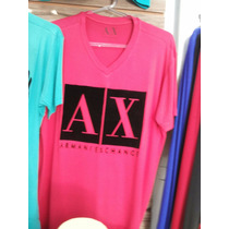 Camiseta Armani Exchange Gola V, Importada!