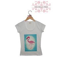 Baby Look Estampa Flamingo