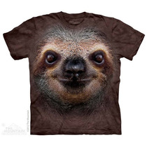 Camisa 3d Sloth Face The Mountain Original