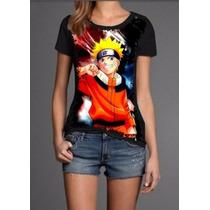 Camisa Naruto Roupas Pv Femininas Masculinas Personalizada
