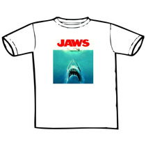 Camiseta Filme Tubarão Jaws Estampas Exclusivas!