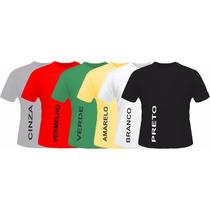 Camisetas Algodão Lisa Cores Fio 30.1