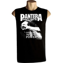 Camiseta Regata Machão Pantera Bandas Rock