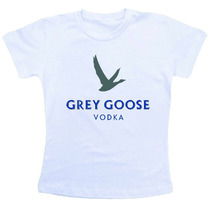 Camiseta Baby Look Feminina - Vodka Grey