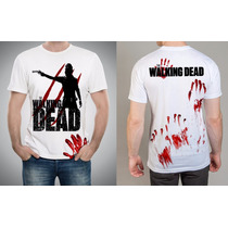Camiseta Ou Baby Look Fear The Walking Dead Zumbi Sangue