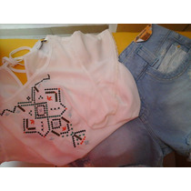 Camisa, Camiseta, Bata, Batinha, Regata Bordada Em Chiffon