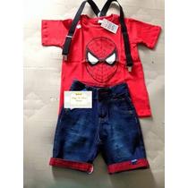 Conjunto Infantil Fantasia Homem Aranha Spider Man