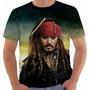 Camisa Camiseta Regata Piratas Do Caribe Johnny Depp Color