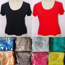 Lote 12 Camisetas Baby Look Feminina Plus Size Atacado