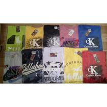 Camiseta Masculina Kit 13 Pc Hollister Calvin Klein E Outras