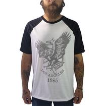 Raglan Guns N Roses Camiseta Regata Moletom Banda Rock Slash