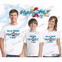 Lembrança De Aniversario Smurfs Camiseta Kit Com 3