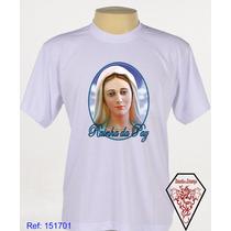Camiseta Religiosa Rainha Da Paz