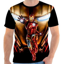 Camisa, Camiseta Homem De Ferro - Attack, Herói
