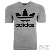 Camiseta Adidas Trefoil Originals Cinza - Futfanatics