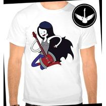 Camiseta Hora De Aventura Marceline Infantil Adulto Desenho