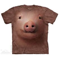 Camisa 3d Pig Face The Mountain Original
