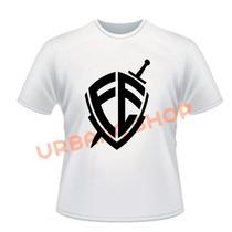 Camiseta Fé André Valadão Gospel Branca Algodão Cod. 158