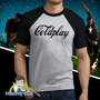 Camiseta Raglan Coldplay Coca-cola