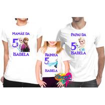 Camiseta - Camisa - Blusa - Personalizada Frozen A4 / 3pçs