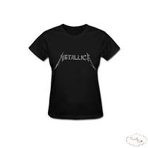 Camiseta Baby Look Metallica