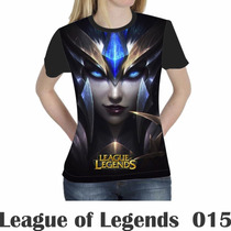 Camiseta Blusa Games League Of Legends Feminina Lol 015
