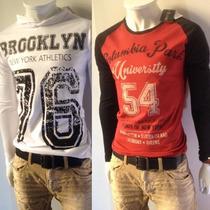 Camiseta Masculina Slim Fit Manga Longa Urbano - Colcci Ck