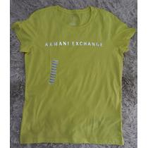 Camisa Camiseta Básica Feminina Armani Exchange M - Original