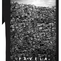 Camiseta Masculina Estampa Favela 3d Swag Blusa Camisa