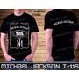 Michael Jackson Guns N Roses Metallica Rock Camiseta Preta