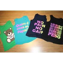 Kit C/ 5 Regatas Camiseta Feminina Fitness Academia