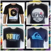 Kit 10 Camisetas Quiksilver Dc Hurley Element Ripcurl Oakley