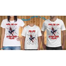 Camiseta - Camisa Personalizada Homem Aranha A3 - 3peças