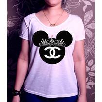 Blusa T-shirt Minnie Chanel