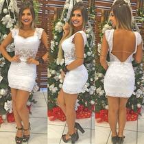 Vestido De Renda Sal E Pimenta Com Bojo Vt008