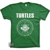 Camisetas Tartarugas Ninjas Leonardo Raphael Geek Games Nerd
