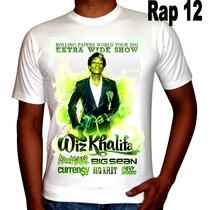 Camisetas Regatas Rappers Wiz Khalifa, Eminem, Cypress Hill